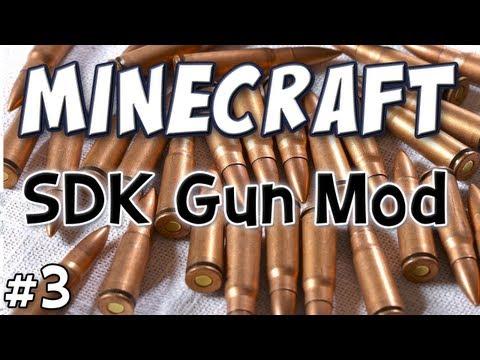 Minecraft - sdk guns mod spotlight - (technic pack part 3)