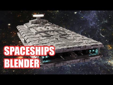 How to create spaceships | workflow tutorial blender 2.8x