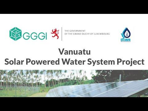 Gggi - vanuatu solar powered water system promotion