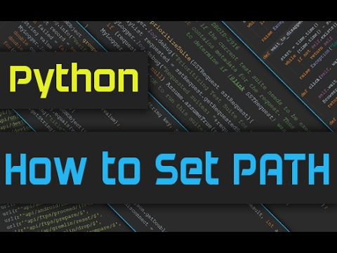 How to add python path to environment variables in windows 10