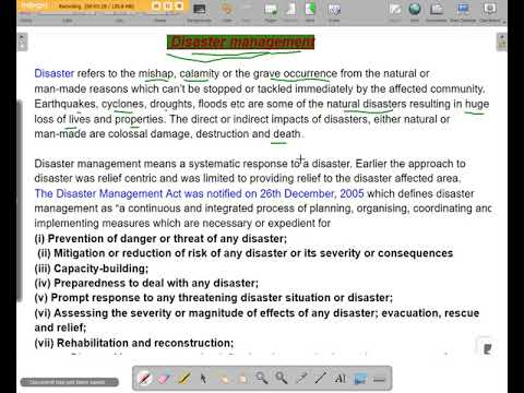 Disaster management paragraph writing in english/