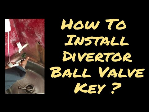 How to install divertor ball valve key of ro water purifier system ? | ro water support |