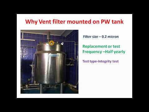 [ hindi ] why vent filter mounted on purified water storage tank ?
