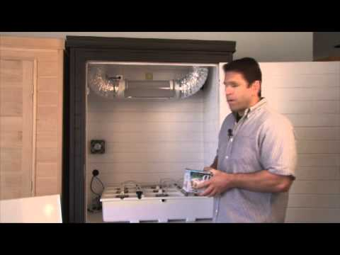 Hydroponic water pump and air pump installation