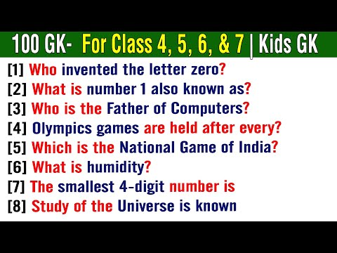 Kids gk science quiz for grades 4, 5, 6, & 7   science & technology general knowledge   india gk