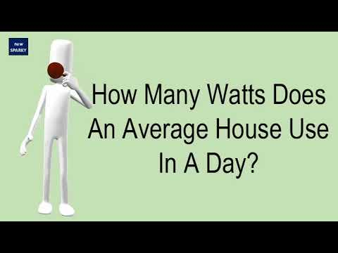 How many watts does an average house use in a day?