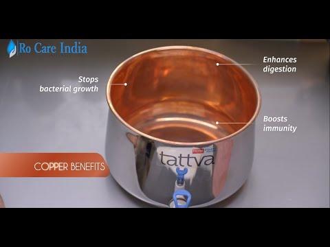 Prestige tattva water purifier | copper water purifier | gravity water purifier with copper tank