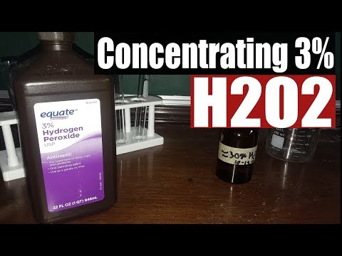Concentrating 3% hydrogen peroxide (the easy way)