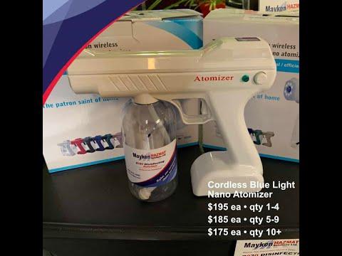 Disinfecting spray and atomizer spray gun
