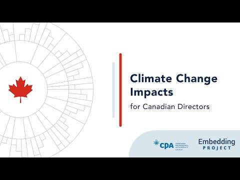Climate change impacts for canadian directors