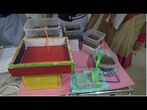 Low cost water purification method || science exhibition ||