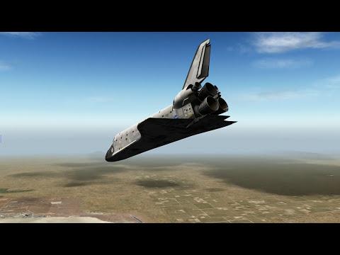 Space shuttle landing x plane 10
