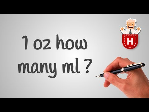 1 oz how many ml
