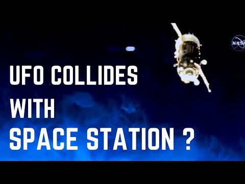 Does nasa clip show a ufo colliding with the international space station (iss) ?