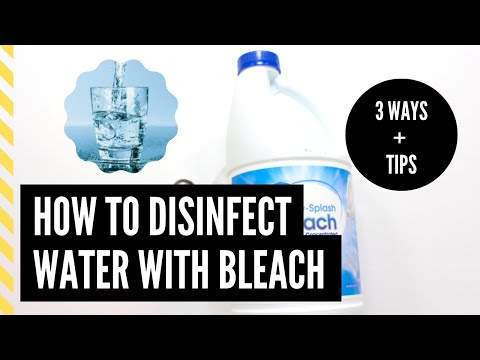 How to purify water with bleach | measurements| coronavirus | covid-19
