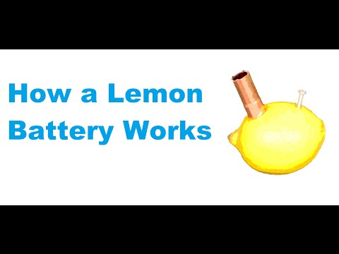 How a lemon battery works.
