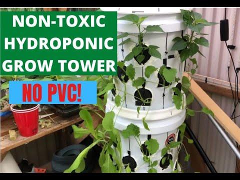 Diy non-toxic hydroponic tower (no pvc)