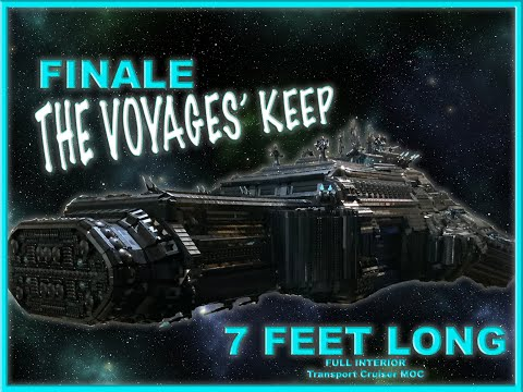 Massive lego 7 foot long spaceship moc - voyages keep- overview of everything! build series finale!