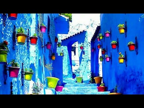 The bleu city chefchaouen morocco 1080p hd المدينه الزرقاء أجمل مدينه عربيه