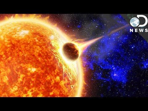 What happens when comets hit the sun?