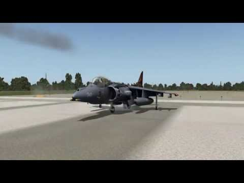 X-plane 10 - vertical takeoff from nasa shuttle landing facility