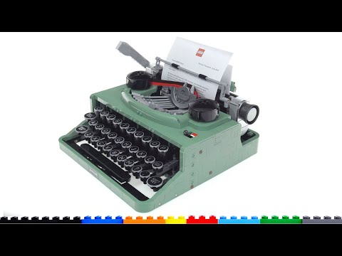 Lego ideas typewriter set 21327 review! shockingly good functions, still no match for the real thing