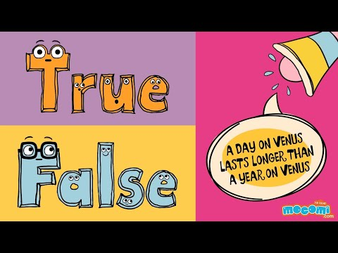Mocomi timepass with true or false episode 14 - a day is longer than a year on venus