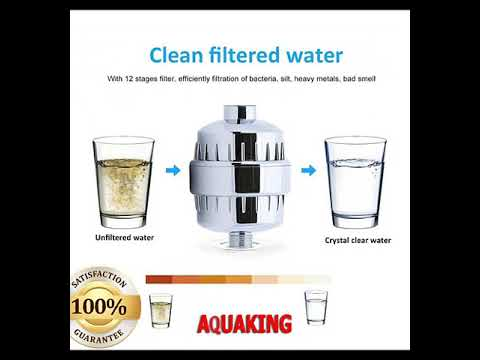 Shower filter improve skin condition, stop hair fall protect eyes, clean bore well hard water