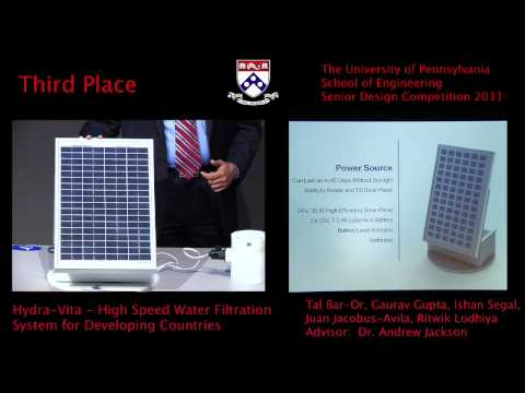 Senior design 2011: hydravita - high-speed water filtration system for developing countries