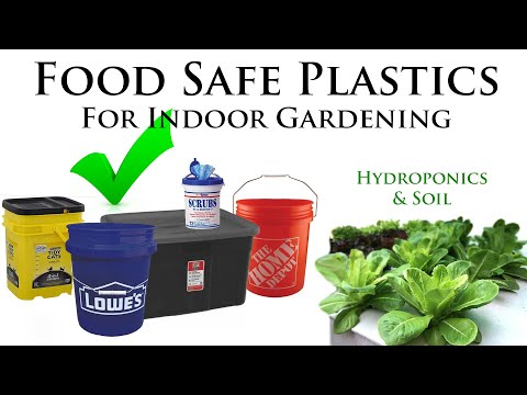 How to tell if plastic is safe for hydroponics/soil (indoor gardening) | *read video description