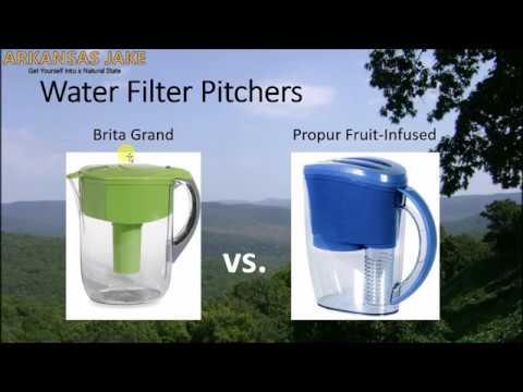 Brita vs. propur water filter pitcher   comparison with charts