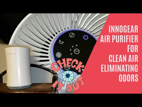 Innogear gl-2106 hepa air purifier - cleans air, eliminates odors & allergens unboxing, demo, review