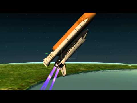 X-plane space shuttle launch remastered in 1080p try #1
