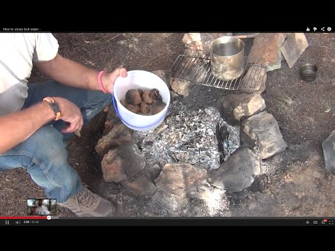 How to stone boil water for purification