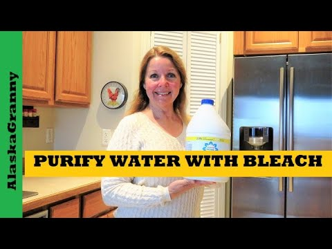 How to purify water with bleach - easy prepper skill