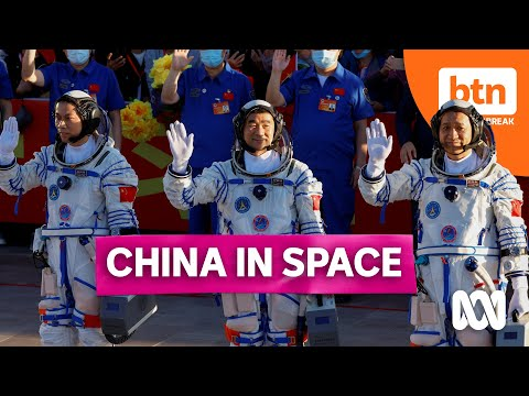China sends three astronauts to its new space station in its first manned mission in five years.
