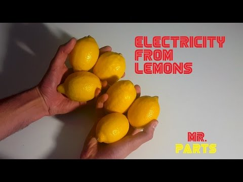 How to make electricity from lemon