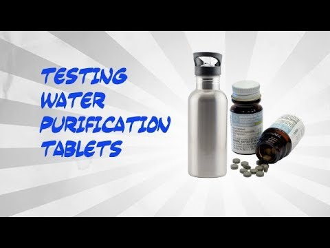 Testing water purification tablets