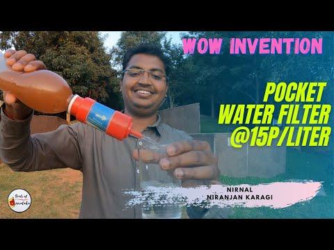 Belgaum enterpreneur invents pocket water purifier at 15p/liter