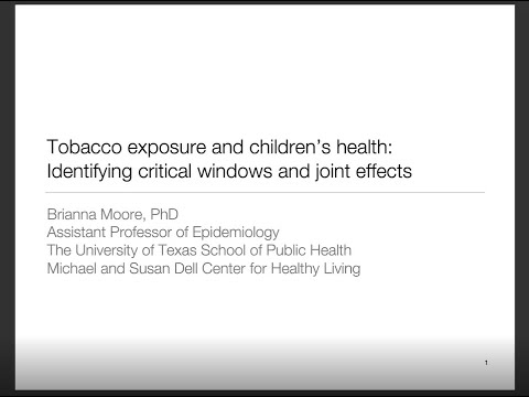 Tobacco exposure and children's health: identifying critical windows and joint effects