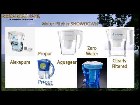 The best water pitchers that remove fluoride | zerowater/aquagear/propur/clearly filtered/alexapure