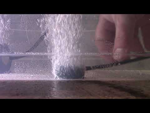 Air stone comparison (amazon) small vs large on same pump same air hose 2020