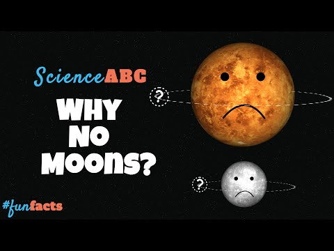 Why venus and mercury have no moons?