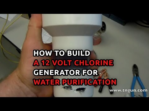How to build a 12 volt chlorine generator for water purification