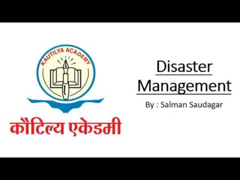 Disaster management - introduction