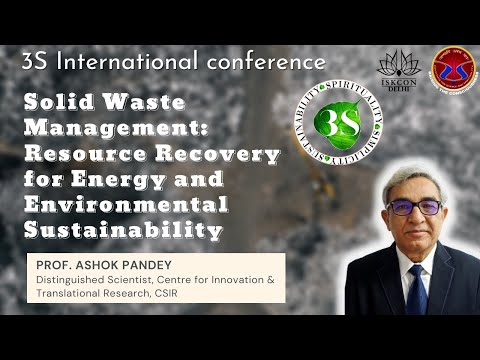 2. solid waste management: resource recovery for energy and env. sustainability  prof. ashok pandey