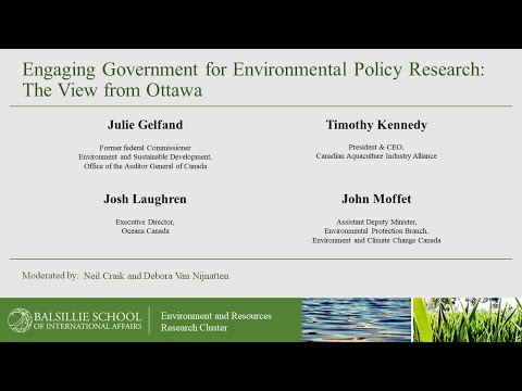 Engaging government for environmental policy research: the view from ottawa