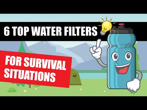 Best survival portable water filter [backpacking, camping, hiking] how to purify and filter water