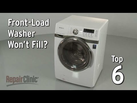 Front-load washer won't fill — washing machine troubleshooting
