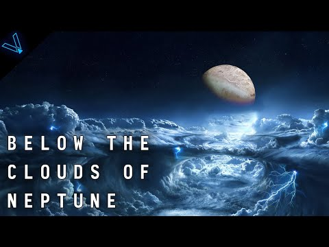 What's it like inside neptune? below the clouds of an ice giant planet (4k uhd)